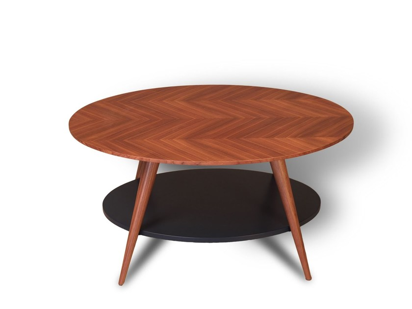 Low oval solid wood coffee table DORY - Morelato