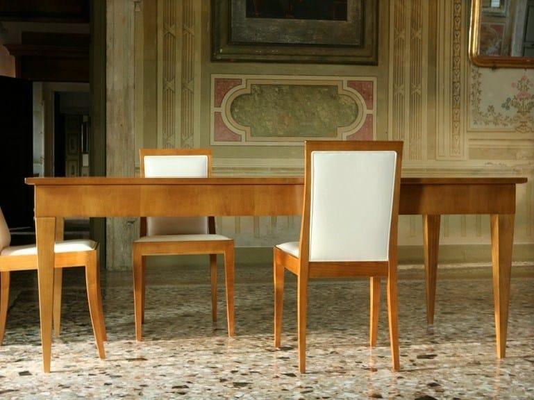 Extending rectangular wood and glass table BIEDERMEIER | Rectangular table - Morelato