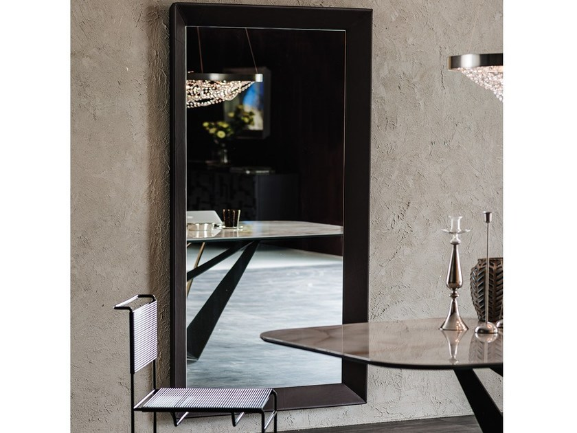 Wall-mounted framed mirror TAXEDO by Cattelan Italia