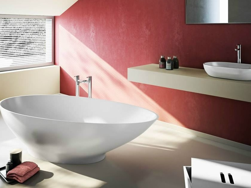 Freestanding oval bathtub TEARDROP SMALL - Polo
