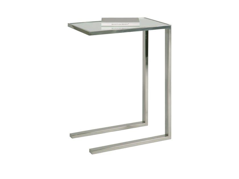 Rectangular stainless steel side table TEATIME - Branco sobre Branco