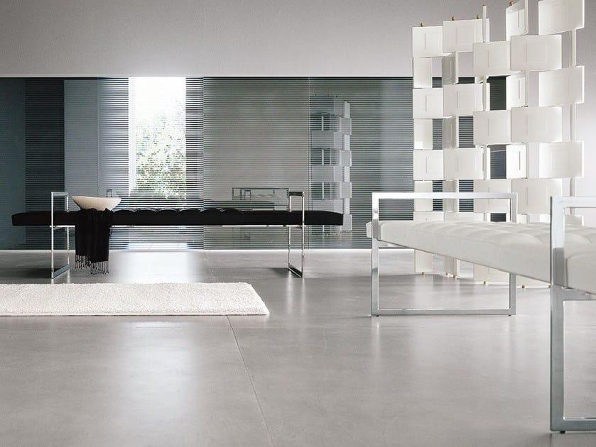 Upholstered steel bench TECH - ALIVAR