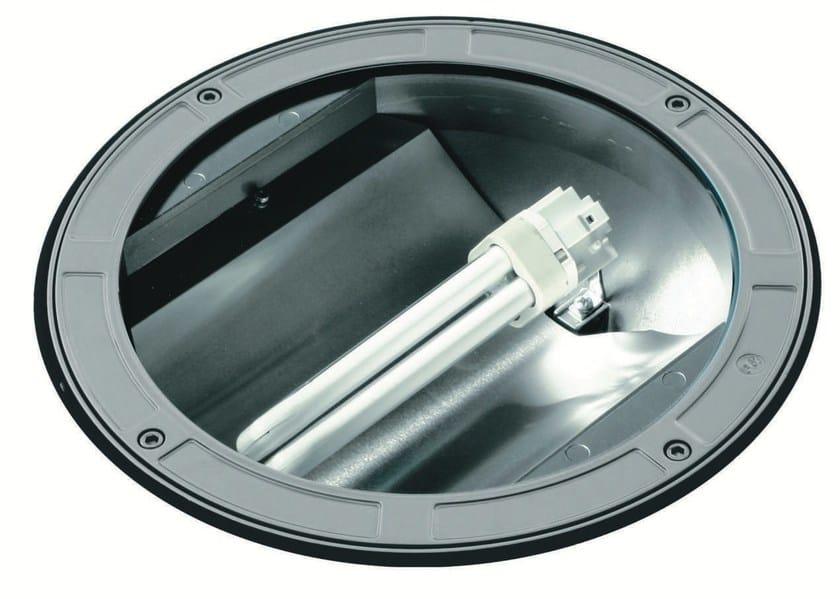 Walkover light fluorescent die cast aluminium steplight TECH F.1080 by Francesconi & C.