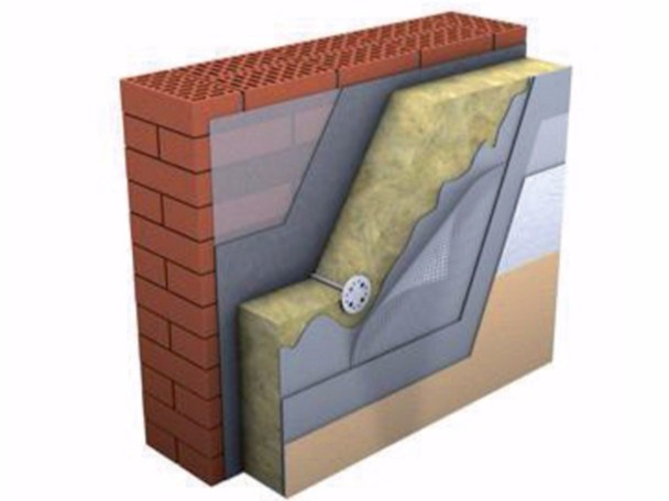 Rock wool Thermal insulation panel TECHNOFACADE by Imper Italia