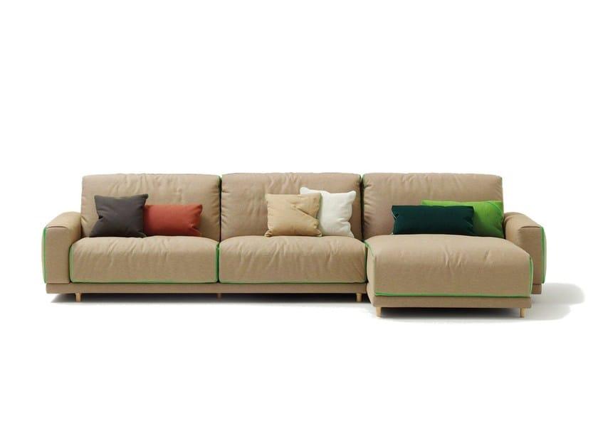 Fabric sofa TECNO | Sofa with chaise longue - SANCAL