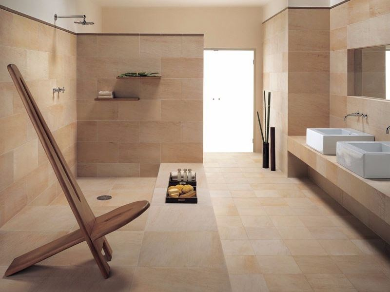 Indoor/outdoor wall/floor tiles with stone effect TECNOQUARTZ - LEA CERAMICHE