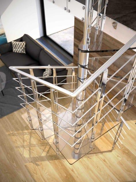 Scala a chiocciola in vetro a pianta quadrata tekla glass - Scale a chiocciola a pianta quadrata ...