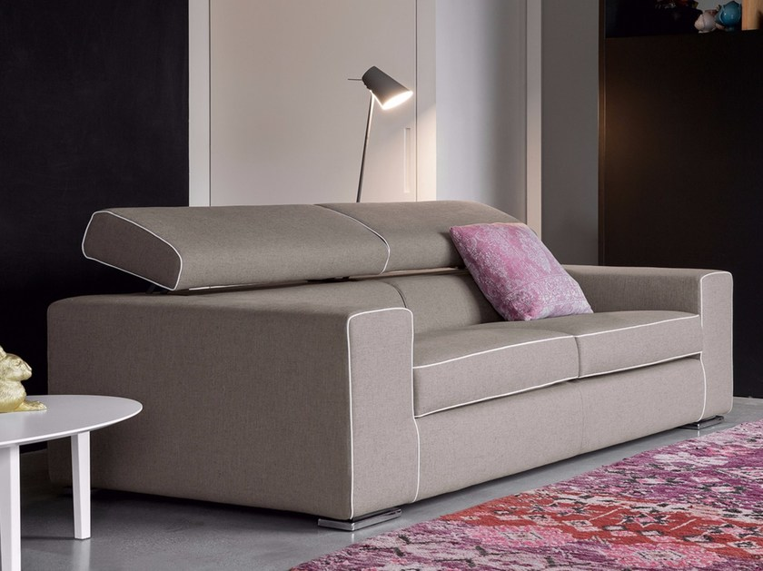 2 seater leather sofa with headrest TEKNO - Dall'Agnese