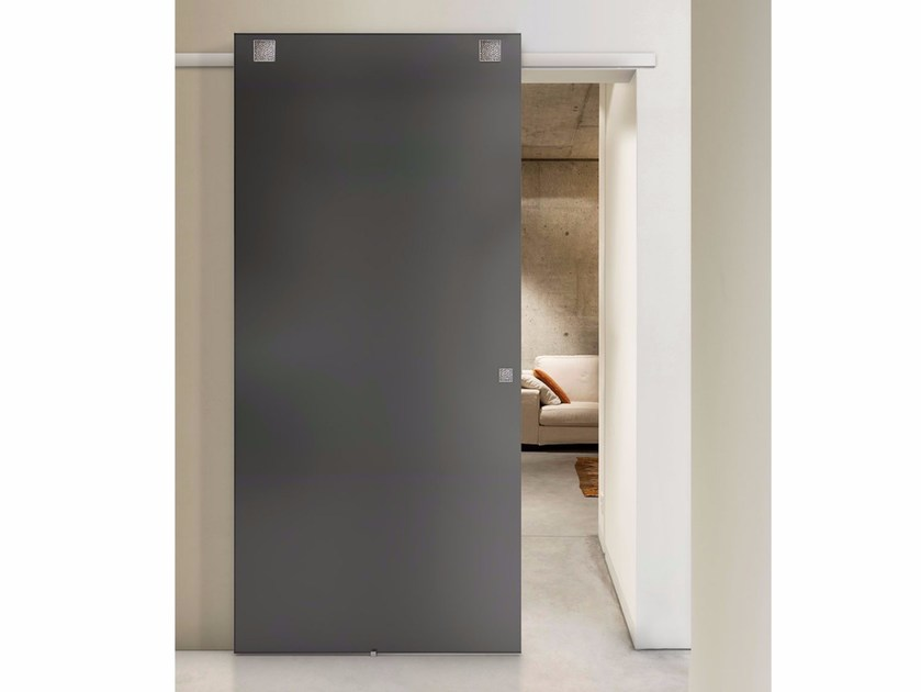 Glass sliding door TEKNO TRE SOFTMIRROR by FOA