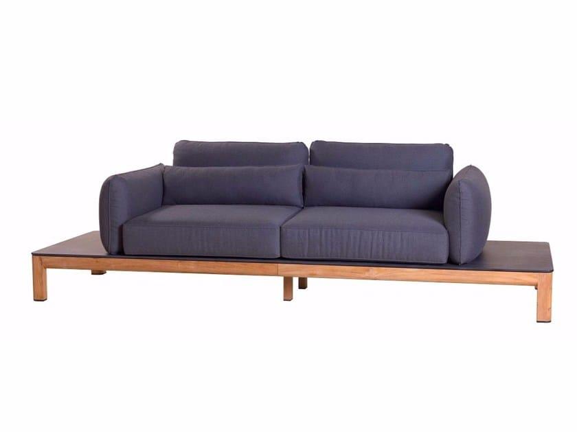 3 seater fabric garden sofa TEKURA | Sofa - Les jardins
