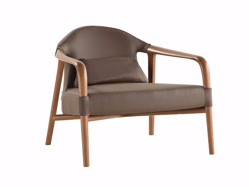 Fabric armchair with armrests TEMPUS by ROCHE BOBOIS