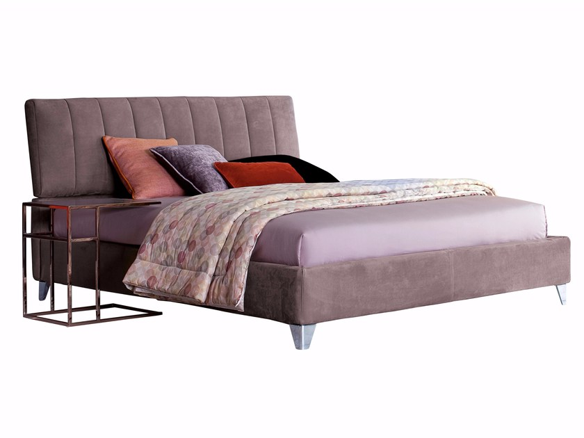 Double bed with adjustable headrest TENDER BARRÈ | Double bed - Twils
