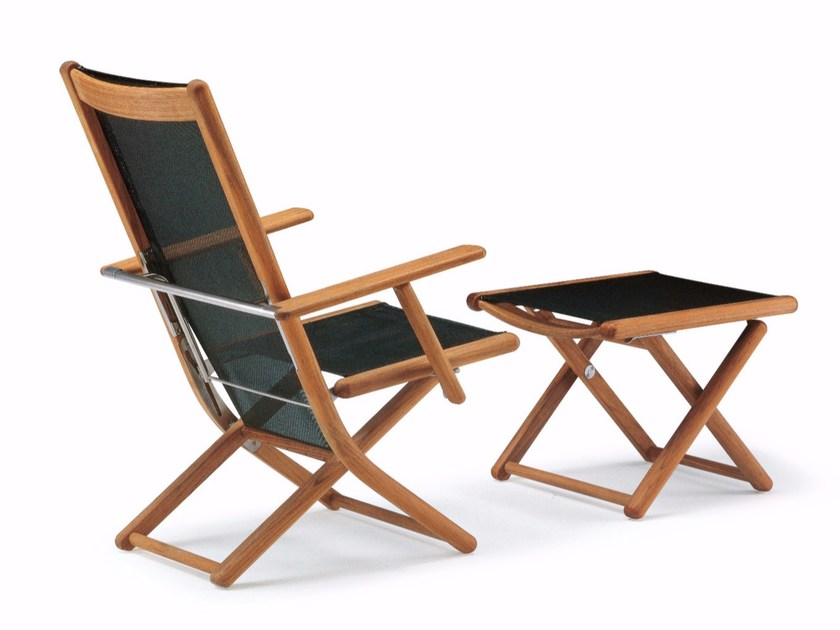 Recliner garden chair with armrests TENNIS | Recliner chair - FISCHER MÖBEL