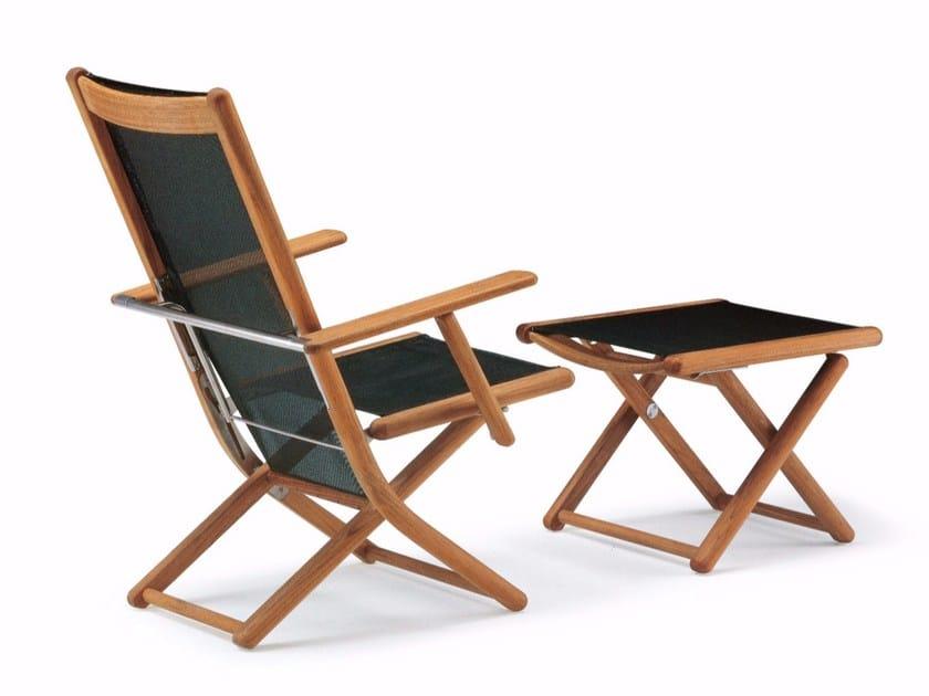 Sedia da giardino reclinabile con braccioli tennis sedia for Sedia a dondolo reclinabile