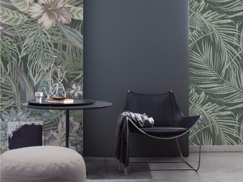 Panoramic wallpaper with floral pattern TENNO - Inkiostro Bianco