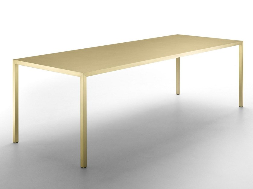 Rectangular brass table TENSE MATERIAL | Brass table - MDF Italia
