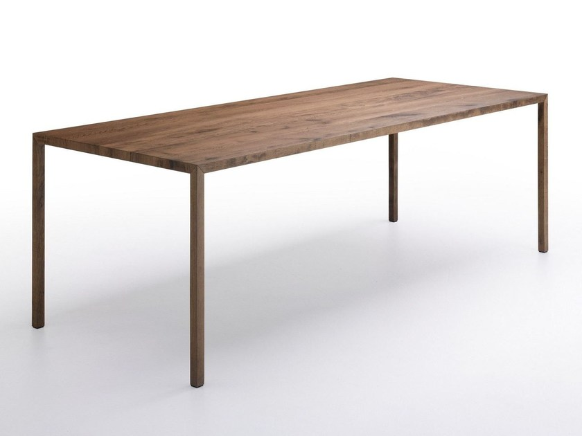 Rectangular wooden table TENSE MATERIAL | Wooden table - MDF Italia