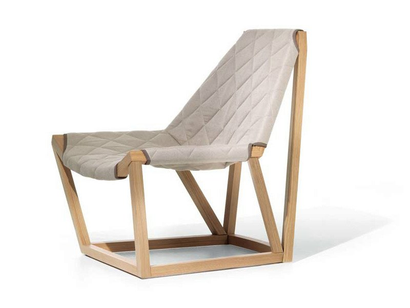 Fabric easy chair TENSO | Easy chair by Potocco