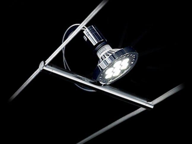 Contemporary style LED ceiling halogen steel spotlight TENSOSPOT PAR30 - Cini&Nils