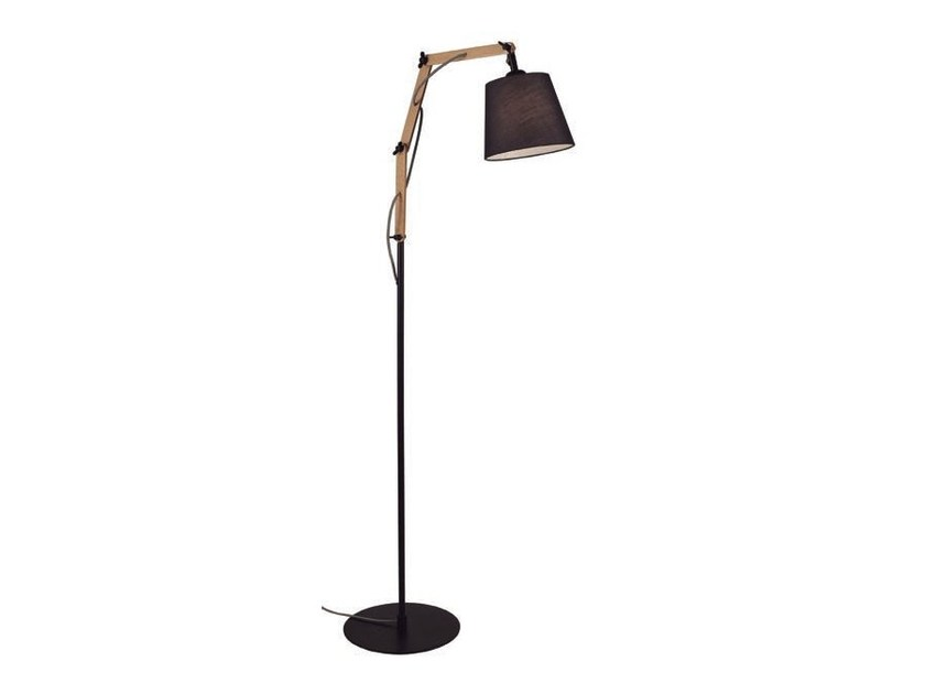 Adjustable wooden floor lamp TEO | Adjustable floor lamp - Aromas del Campo