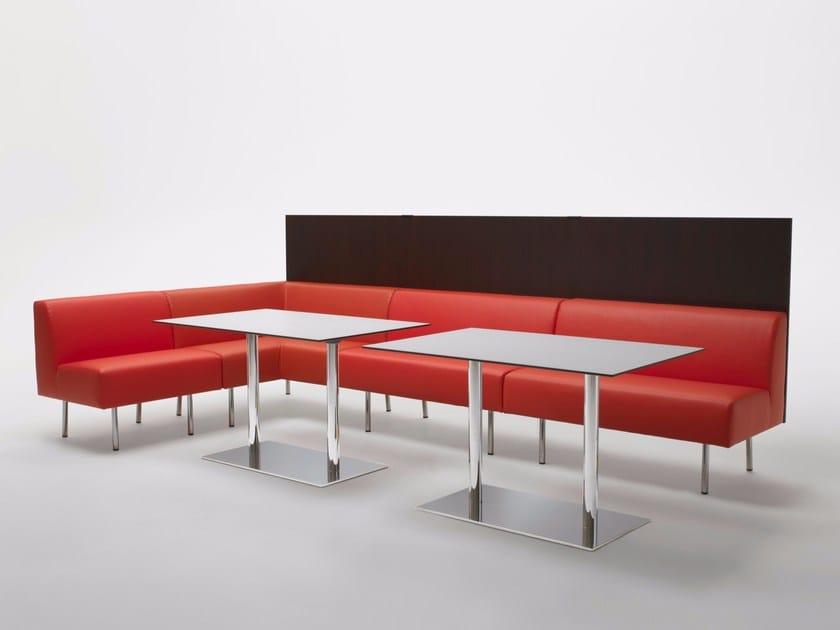Upholstered restaurant booth TERMINUS by Segis