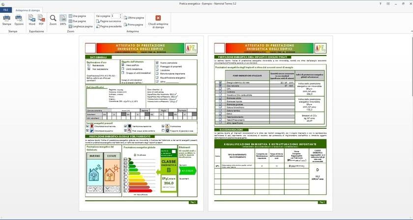 Anteprima Attestato di Certificazione Energetica