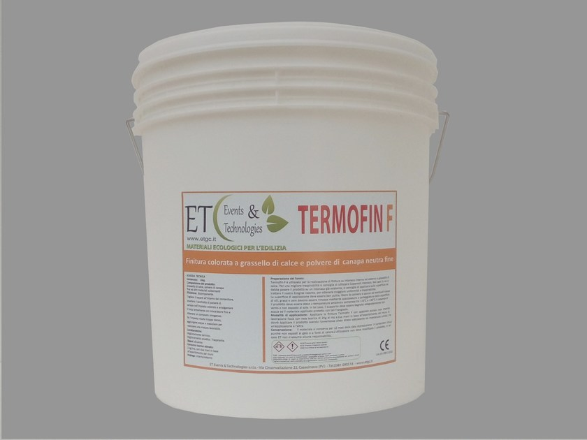 Exterior finish made with slaked lime and hemp TERMOFIN F by ET Events & Technologies