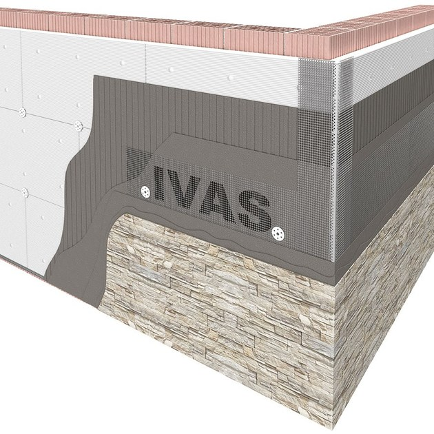 Exterior insulation system TERMOK8® BIOSTONE | Exterior insulation system - Ivas Industria Vernici - GRUPPO IVAS