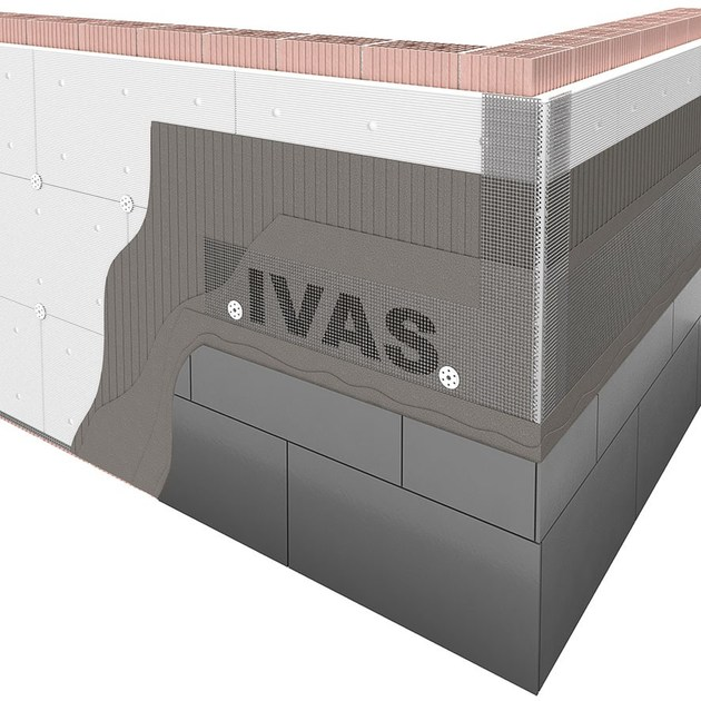 Exterior insulation system TERMOK8® MODULAR BIG by Ivas Vernici