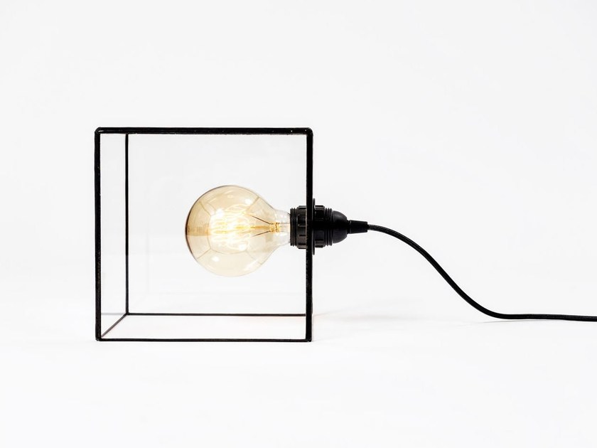 Direct light glass table lamp TERRA | Glass table lamp by bigdesign