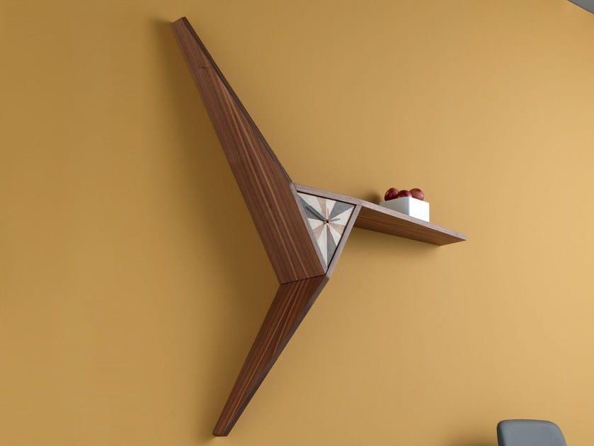 Wall-mounted wooden clock TERRY | Wall-mounted clock - ITALY DREAM DESIGN - Kallisté