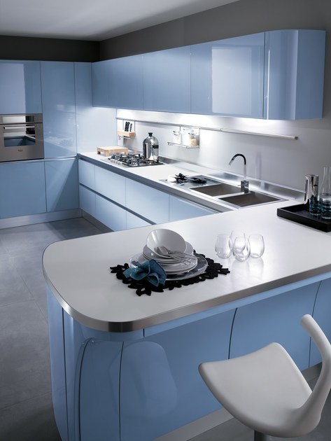 Lacquered fitted kitchen TESS - Scavolini
