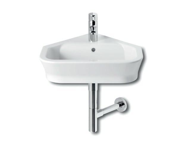 Corner wall-mounted handrinse basin THE GAP | Corner handrinse basin - ROCA SANITARIO