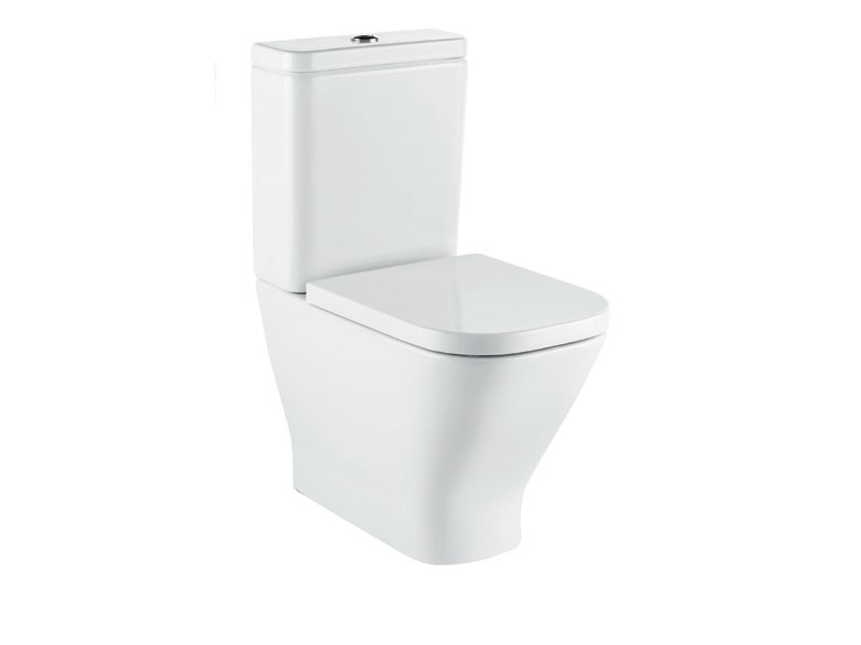 Close coupled ceramic toilet with external cistern THE GAP | Toilet with external cistern - ROCA SANITARIO