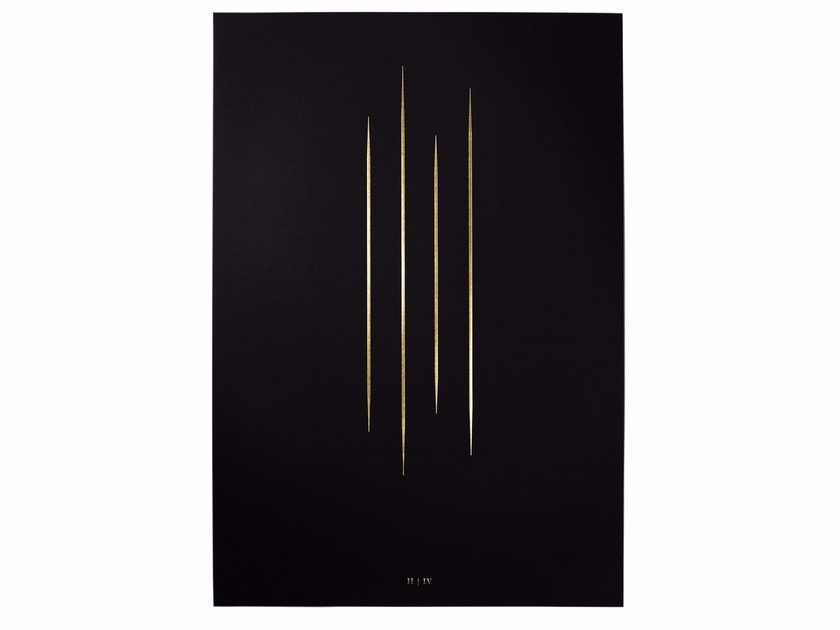 Art print hot gold foil stamping THE RED PILL by The Thin Gold Line