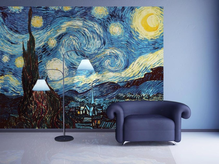 Artistic wallpaper THE STARRY NIGHT - MyCollection.it