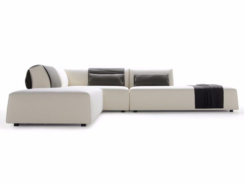 Corner sectional upholstered fabric sofa THEA | Corner sofa by MDF Italia