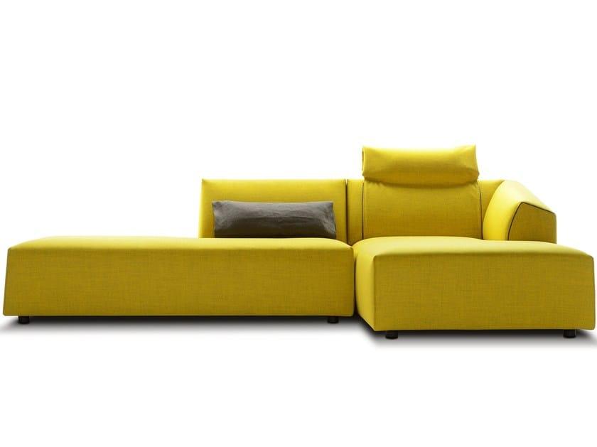 Fabric sofa with chaise longue THEA | Sofa with chaise longue - MDF Italia