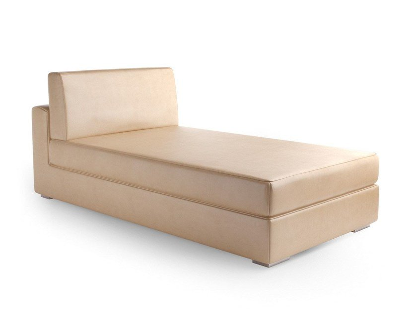 Upholstered leather day bed THECA | Day bed - Caroti
