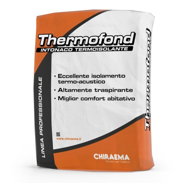 Dehumidifying plaster THERMOFOND by CHIRAEMA