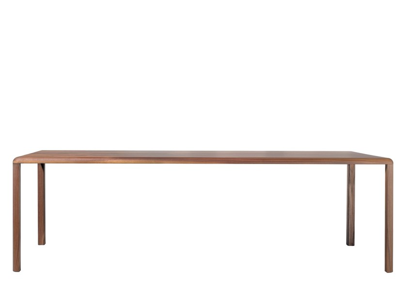 Rectangular wooden dining table THUNA by more