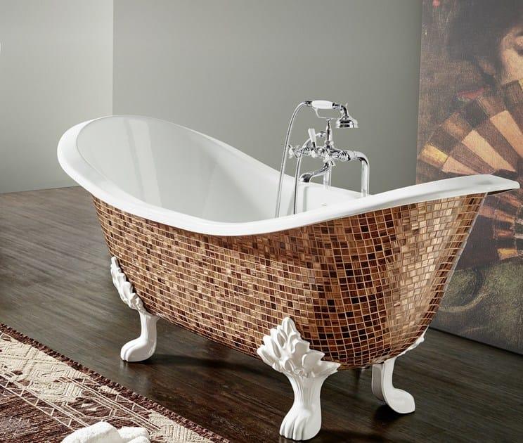 Vasca da bagno in ghisa su piedi thym vasca da bagno su piedi bleu provence - Vasca da bagno in ghisa ...