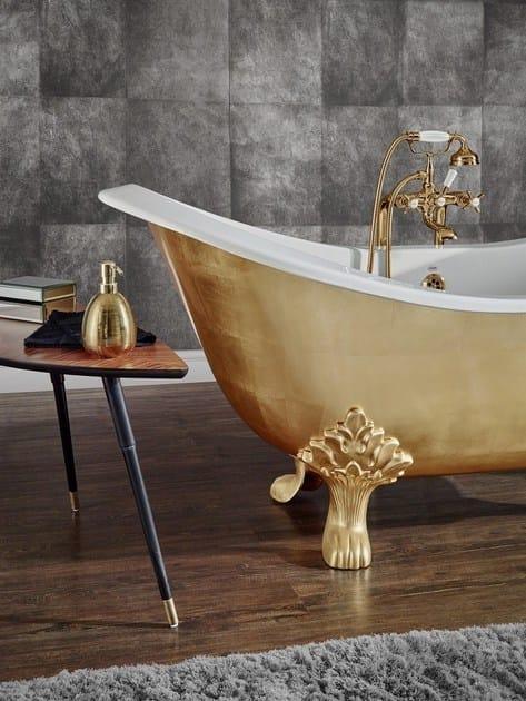 Vasca da bagno in ghisa su piedi thym vasca da bagno su piedi bleu provence - Vasca da bagno con piedi ...