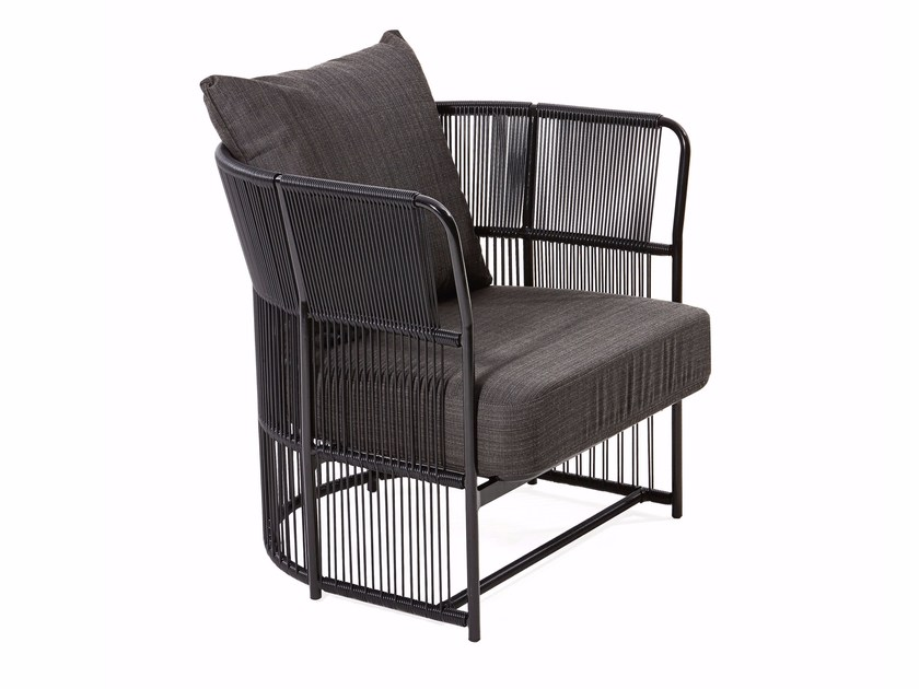 Armchair with armrests and synthetic fiber weaving TIBIDABO | Armchair - Varaschin