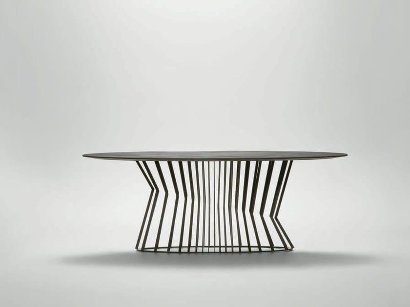 Tavolo da pranzo ovale in metallo TIE | Tavolo ovale - da a