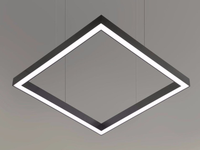 LED direct light pendant lamp TILE-D  9737 by Metalmek