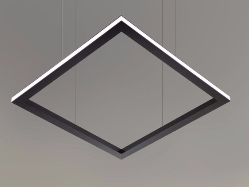 LED direct light pendant lamp TILE-H  9733 by Metalmek