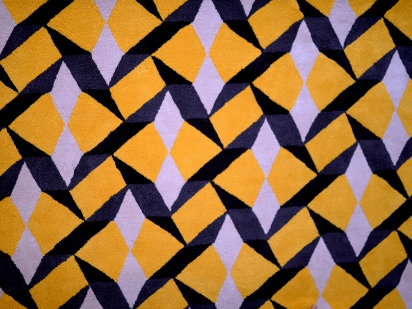 Rectangular wool rug with geometric shapes TILES | Handmade rug by Two Six