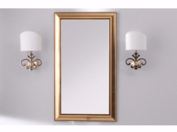 Rectangular framed mirror TIME | Mirror by GSG Ceramic Design