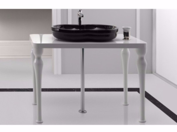 Floor-standing wooden vanity unit TIME | Vanity unit - GSG Ceramic Design